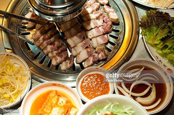 Korean Barbecue and Side Dishes