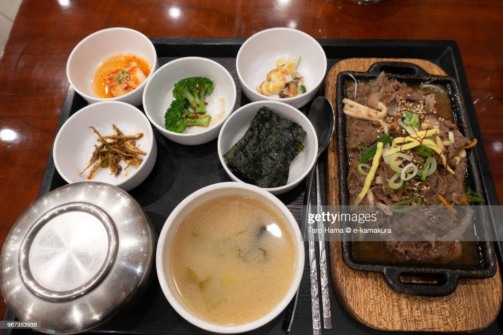 Korean BBQ in local restaurant in Seoul city in Korea : ストックフォト