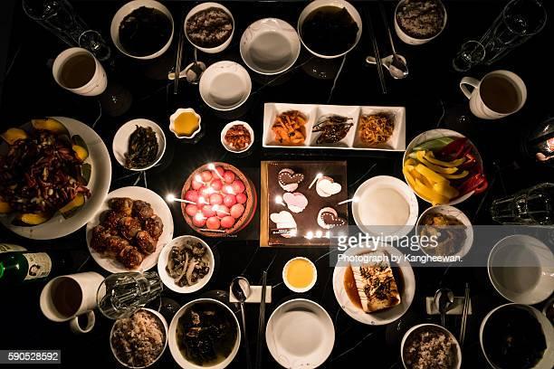 Korean birthday dinner
