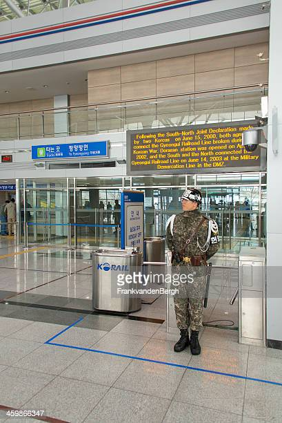 korean border - korean military stock photos and pictures