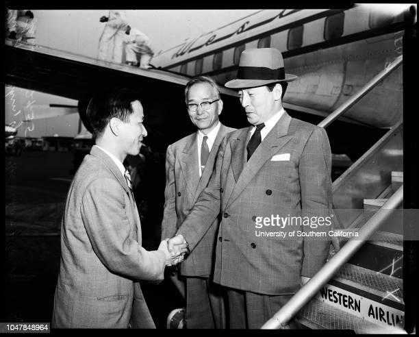 Korean consul , 29 June 1955. Phil Shik Chin ;Ben C Limb Korea;Young Han Choo .;Caption slip reads: 'Photographer: Gray. Date: . Reporter: Sid...