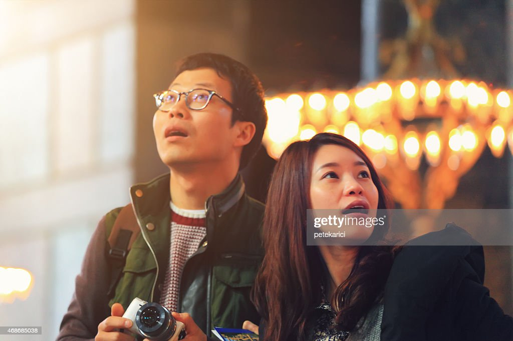 Korean Couple in The Hagia Sophia : Stock Photo