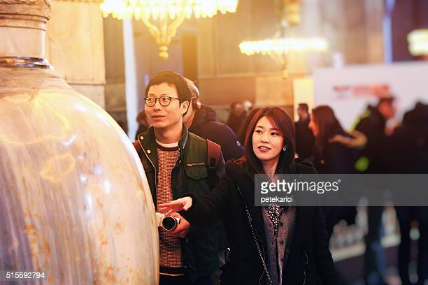 Korean Couple in The Hagia Sophia