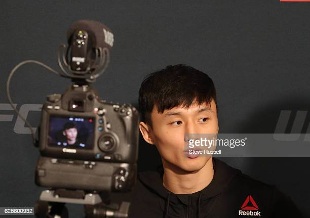 TORONTO ON DECEMBER 8 Korean Doo Ho Choi is interviewed during UFC 206 Media day All the fighters on the card make themselves available to the media...