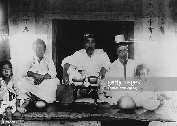 A Korean family at home Korea August 1910