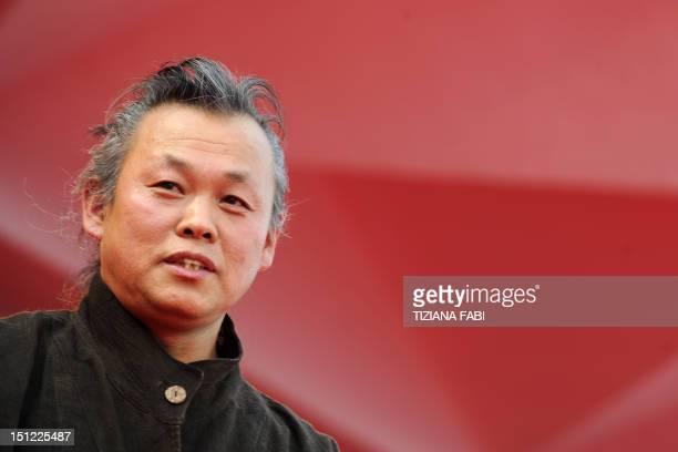 "Korean film director Kim Ki-Duk arrives for the screening of ""Pieta"" at the 69th Venice Film Festival on September 4 , 2012 at Venice Lido. ""Pieta""..."
