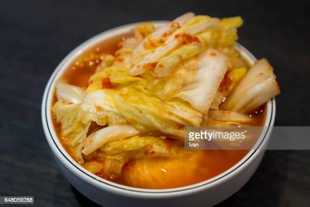 Korean Food, Kimchi, Spicy Pickled Napa Cabbage