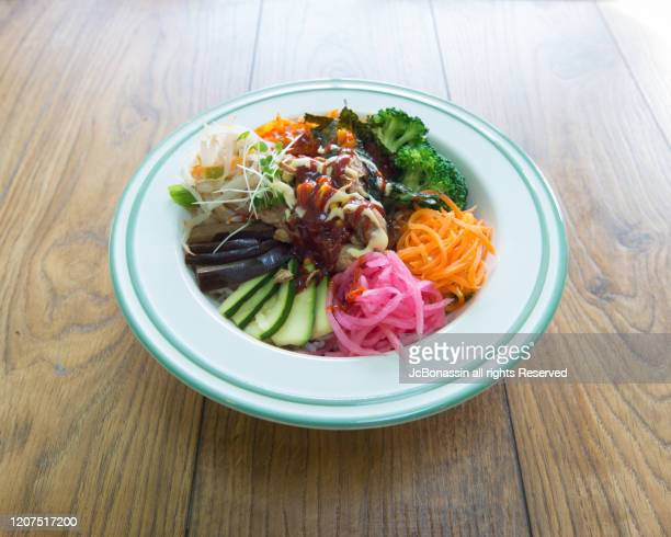 korean food - jcbonassin stock pictures, royalty-free photos & images