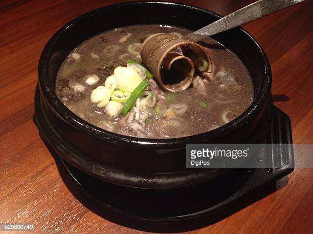 korean food - samgyetang stock photos and pictures