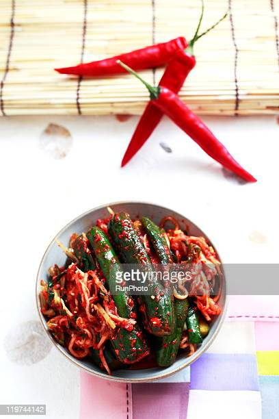 korean food,cucumber kimchi,