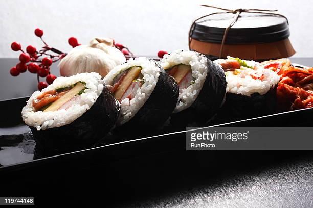 korean food,gimbap,norimaki - 韓国料理 ストックフォトと画像