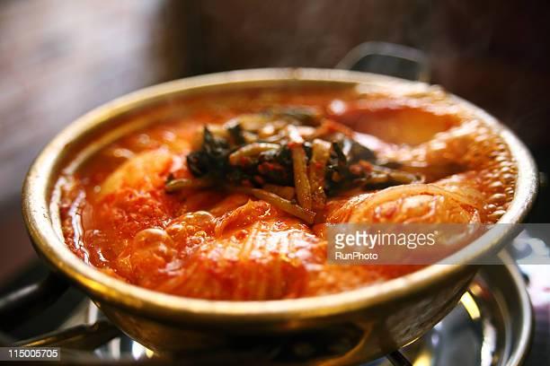 korean food,pork kimchi jjigae