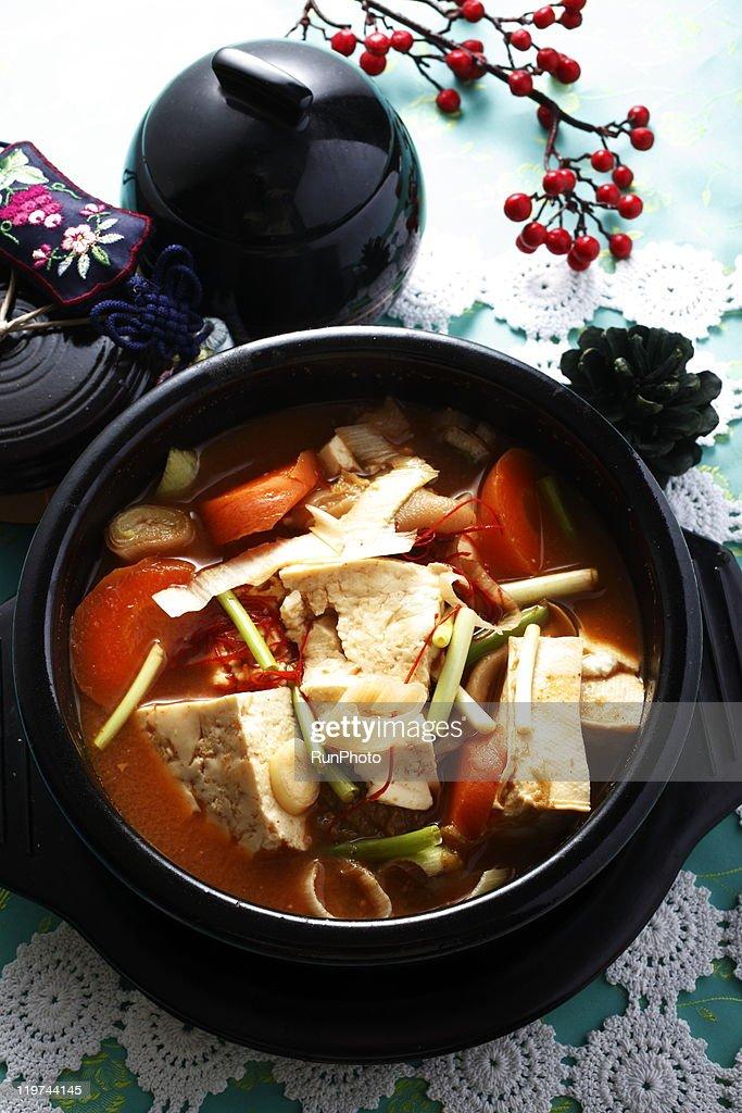 korean food,tofu,nabe : Stock Photo
