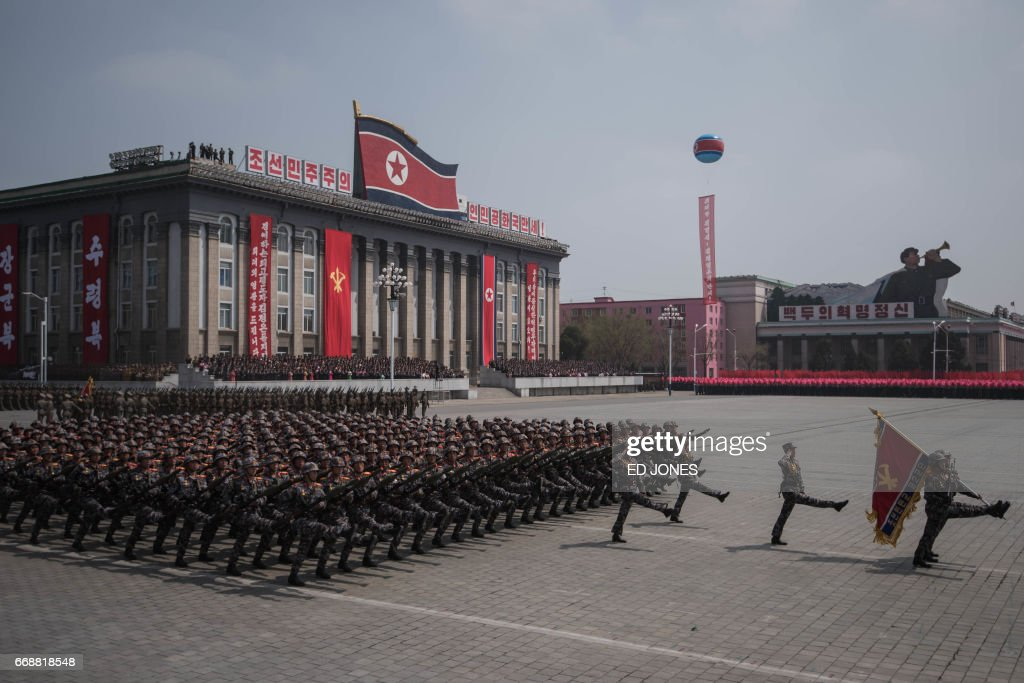 NKOREA-MILITARY-PARADE-POLITICS : News Photo