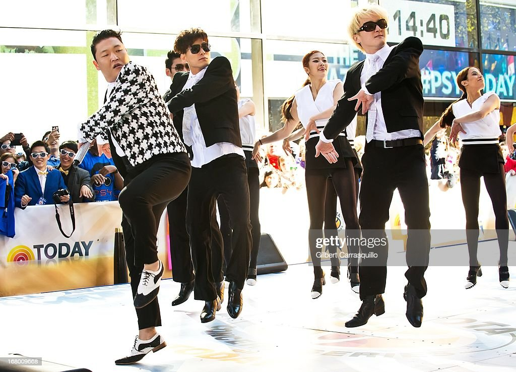 Korean Pop singer Psy Performs On NBC's 'Today Show' at Rockefeller Plaza on May 3, 2013 in New York City.
