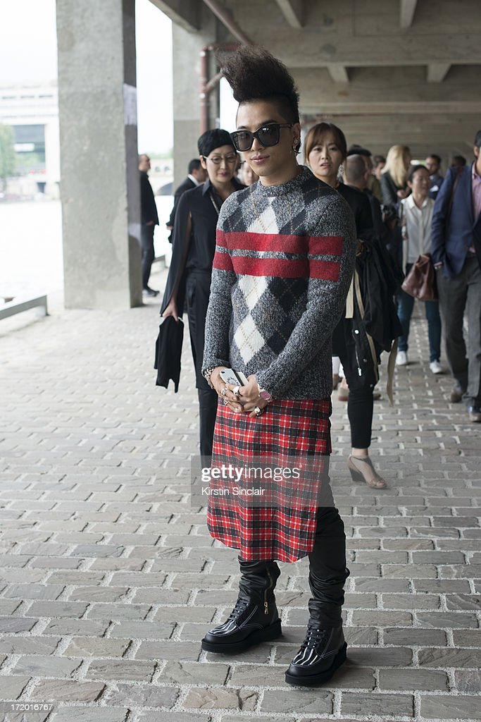 Korean Popstar Taeyang on day 3 of Paris Collections: Men on June 28, 2013 in Paris, France.