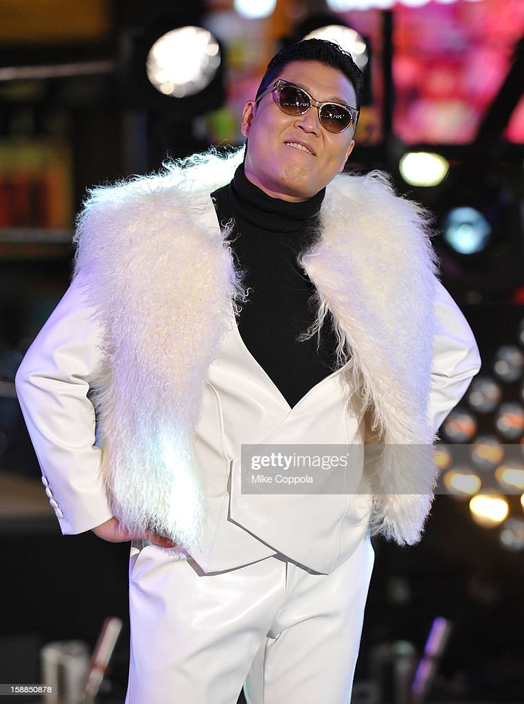 Korean Rapper PSY performs during New Year's Eve 2013 In Times Square at Times Square on December 31, 2012 in New York City.
