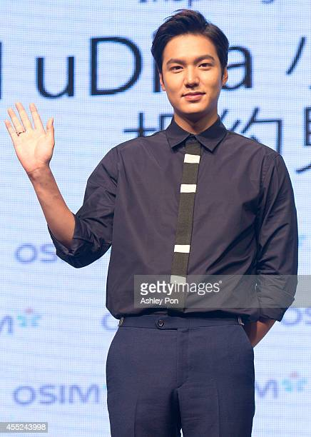 Korean singer/actor Lee MinHo attends a press conference for a commercial event on September 11 2014 in Taipei Taiwan Lee MinHo is most wellknown for...