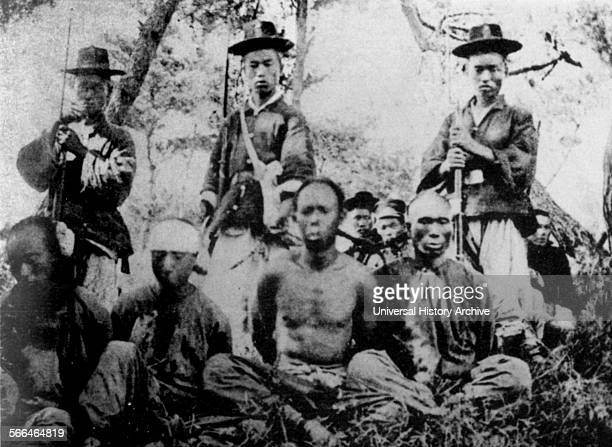 Korean soldiers and Chinese captives in First SinoJapanese War 1894 to 1895