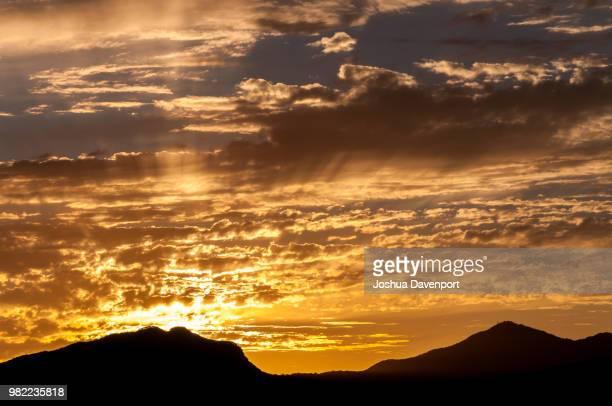 korean sunset - dawn davenport stock photos and pictures