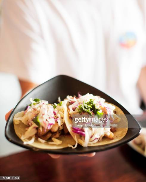 korean tacos - lauryn ishak stock pictures, royalty-free photos & images