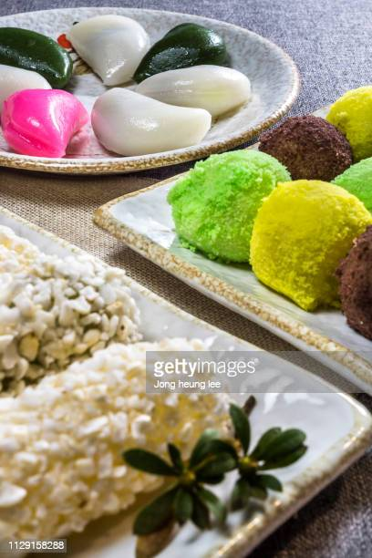 korean traditional holiday food - jong heung lee stock pictures, royalty-free photos & images