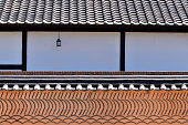 Korean Traditional House Roof and Wall