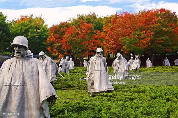 korean war memorial in washington dc - korean war memorial stock pictures, royalty-free photos & images