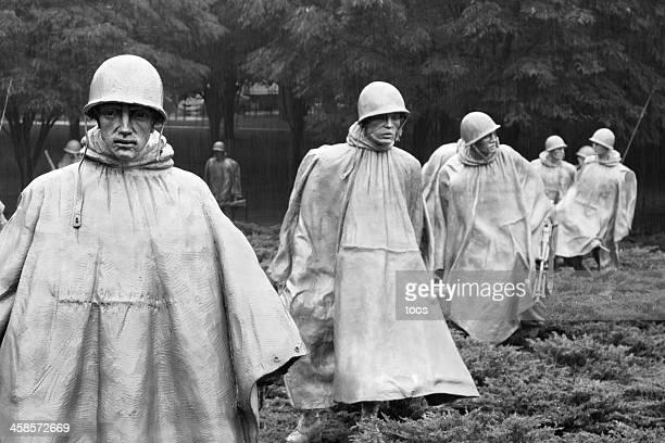 korean war memorial in washington dc, usa - korean war memorial stock pictures, royalty-free photos & images