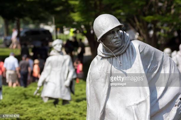 korean war memorial near national mall in washington, dc - korean war memorial stock pictures, royalty-free photos & images