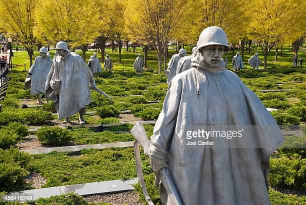 korean war memorial - korean_war stock pictures, royalty-free photos & images