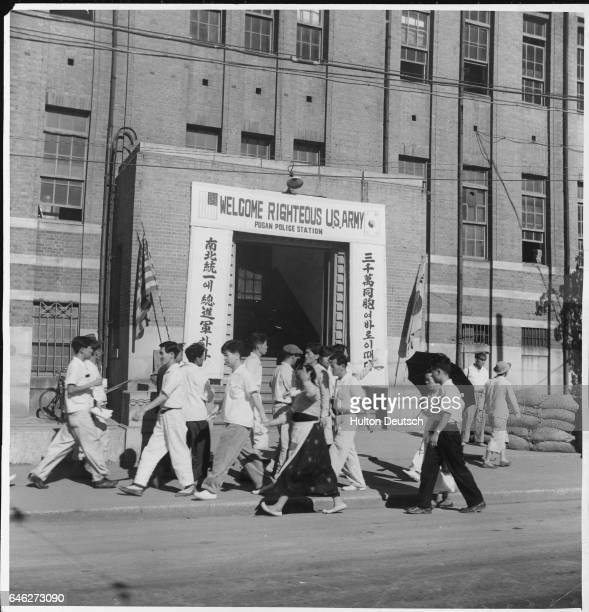 Korean War Series, Pusan Beach Head. Following the crossing of the 38th Parallel by North Korean troops and the United Nations intervention, 'Picture...