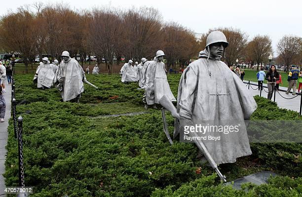 Korean War Veterans Memorial on April 10 2015 in Washington DC
