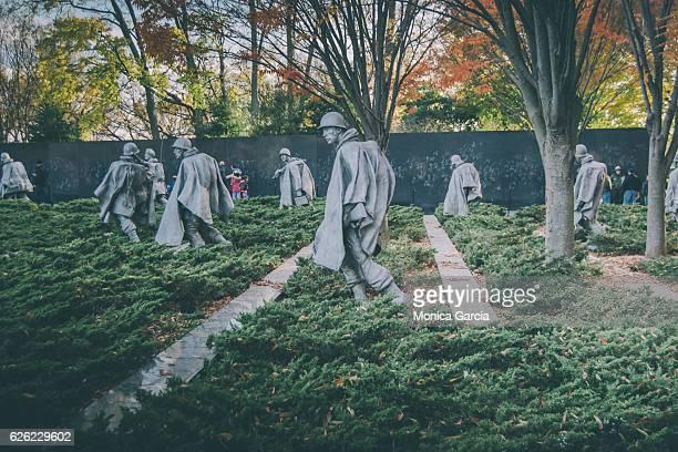 korean war veterans memorial - korean war memorial stock pictures, royalty-free photos & images