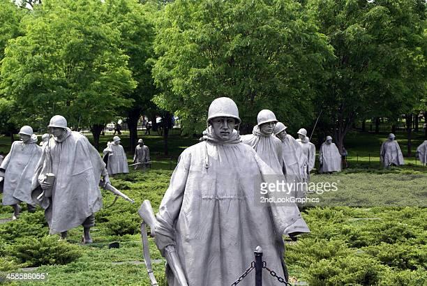 korean war veterans national memorial - korean war memorial stock pictures, royalty-free photos & images