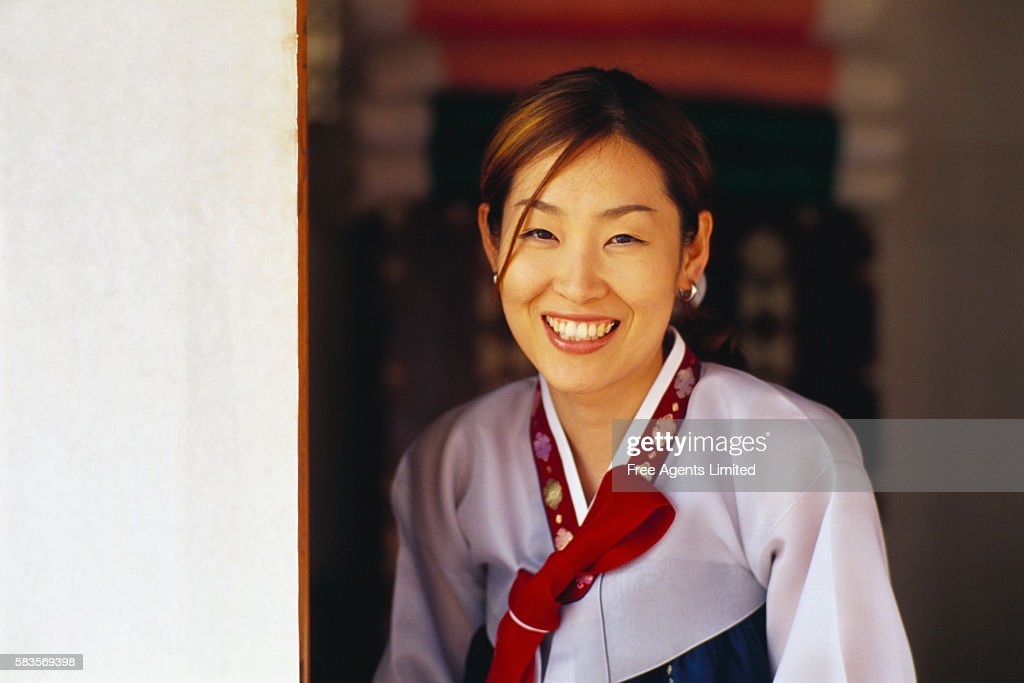 Korean Woman Smiling : Stock Photo