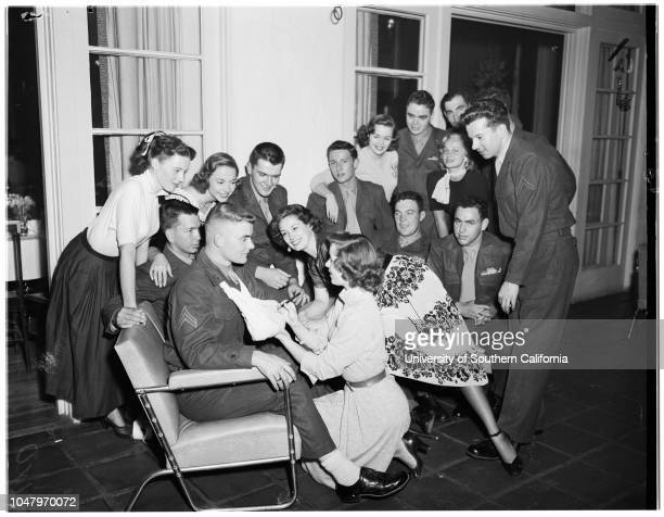 Korean wounded April 26 1951 Howard A ClarkLowell TeterJoan TaylorMary MurphySusan MorrowNancy HaleJim MimmackNancy GatesEllis DiltonJerry...