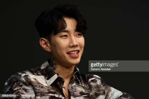 KoreanAmerican hiphop artist Jay Park one of the three judges from Asia's Got Talent Season 2 attends a dialogue session at the ArtScience Museum on...