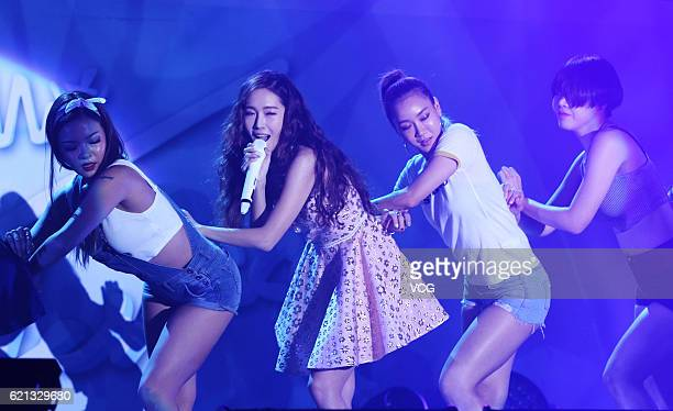 KoreanAmerican singer and actress Jessica Jung performs onstage during her fan meeting on November 5 2016 in Shanghai China