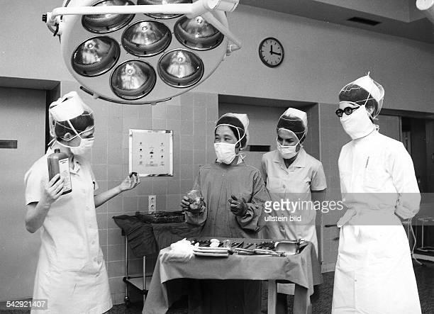Koreanische Krankenschwestern in Berlin Bei der Ausbildung Freizeit 1973