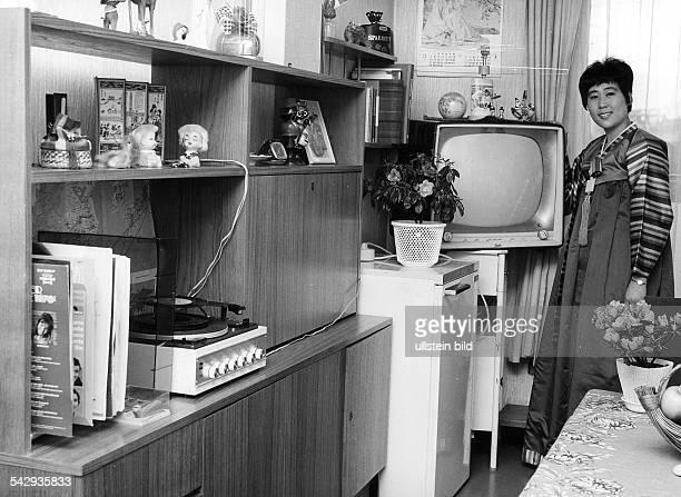 Koreanische Krankenschwestern in Berlin Freizeit im Schwesternheim1973