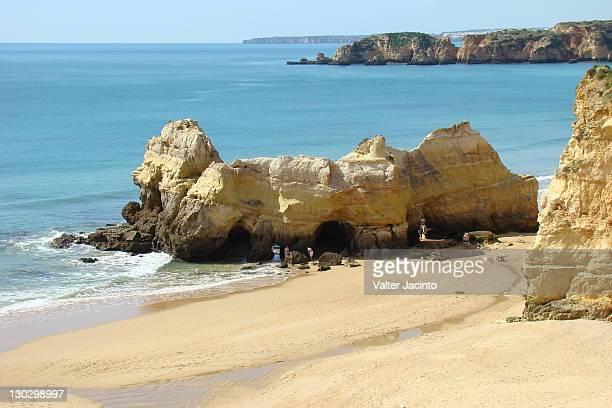 koreans beach, portimao - portimao stock photos and pictures