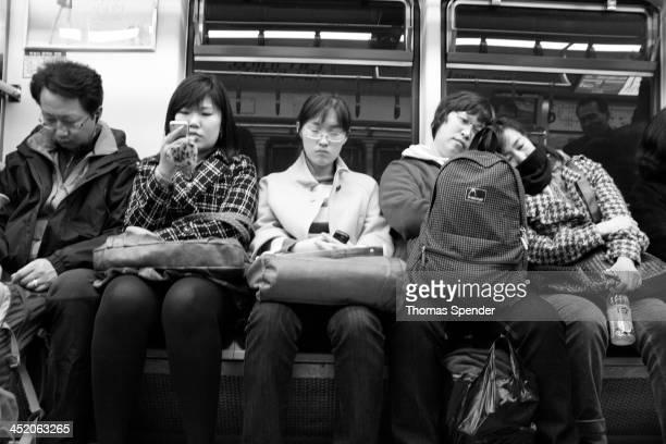 Koreans on the Seoul subway
