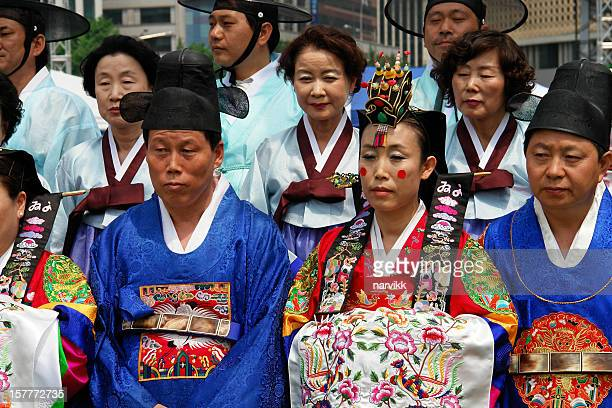 Koreans Performing Old Wedding Ceremony