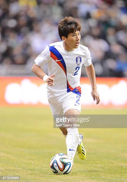 Korea's JinPo park during a friendly soccer match between the Mexico National Team and the Korean National Team in the Alamodome in San Antonio Texas