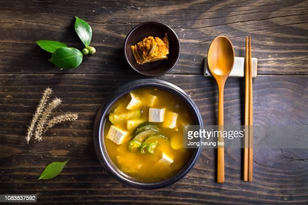 Korea's representative food,Soybean Paste Stew(doenjang jjigae) and Kimchi