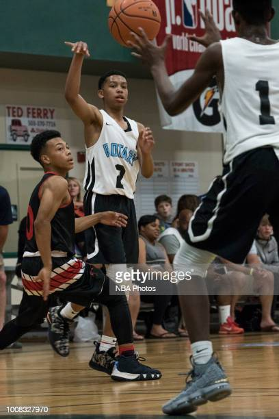 Koren Johnson of Seattle Rotary passes the ball against Alaska Tru Game during the Jr NBA World Championship Northwest Regional Finals on July 1 2018...