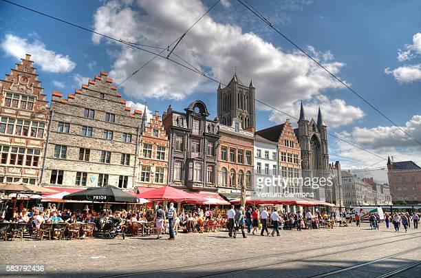 Korenmarkt Square in Ghent (Belgium)