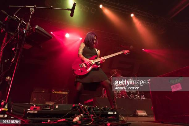 Seth Morrison of Skillet performs live on stage during a concert at Huxleys Neue Welt Berlin on June 16 2018 in Berlin Germany