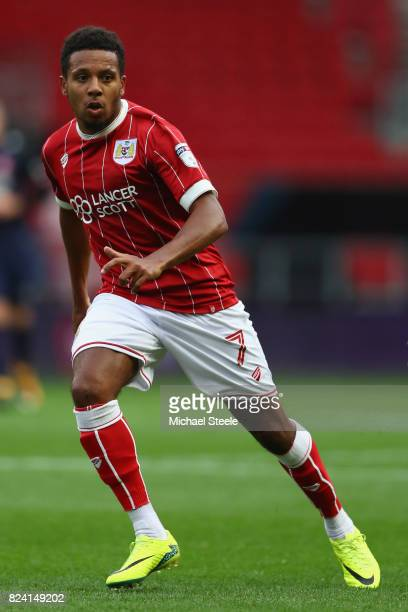 Korey Smith of Bristol City during the pre season match between Bristol City and FC Twente at Ashton Gate on July 28 2017 in Bristol England